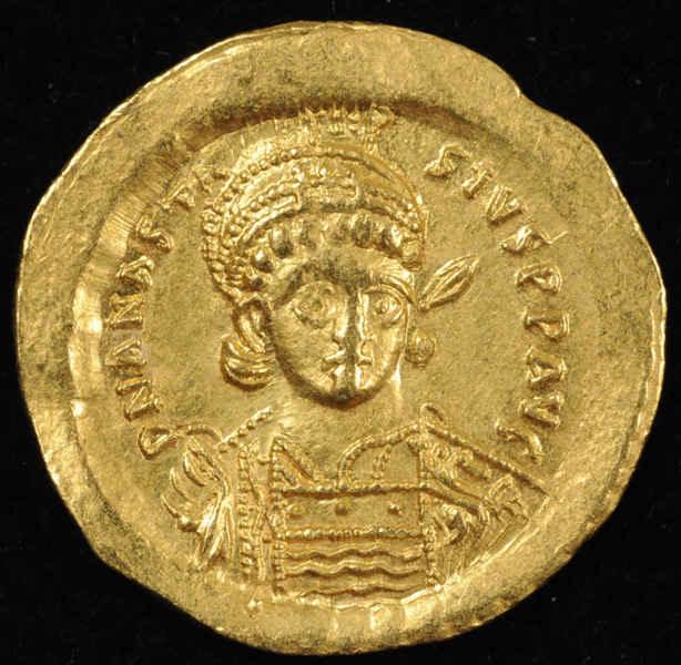 Анастасий I, солид. 491-518 гг.