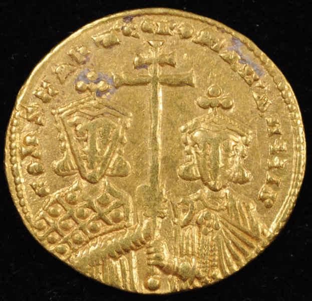 Константин VII и Роман I. Солид.