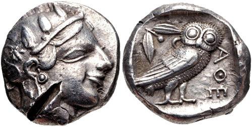 Афины. Тетрадрахма-