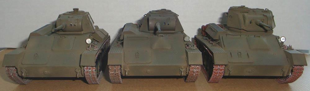 Лот из трех легких советский танков