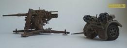 Немецкая 88 мм зенитная/противотанковая пушка Flak-18 Pak 36-37