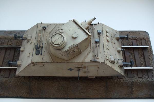 бронедрезина с 75мм танковым орудием