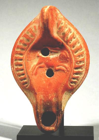 Римская терракотовая лампа