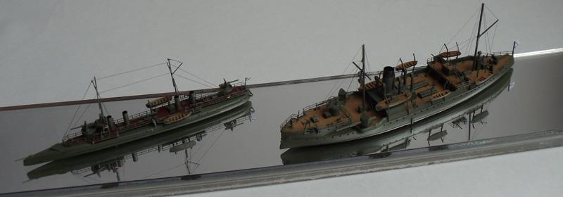 Канонерская лодка Храбрый и миноносец Лихой