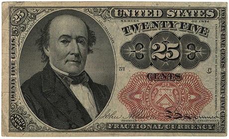 25 центов. Разменная банкнота