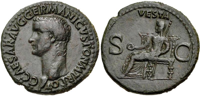 Рим. Император Калигула. Ас. Бронза.