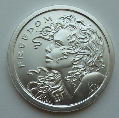 Серебряный унцовый слиток-монета «Freedom»
