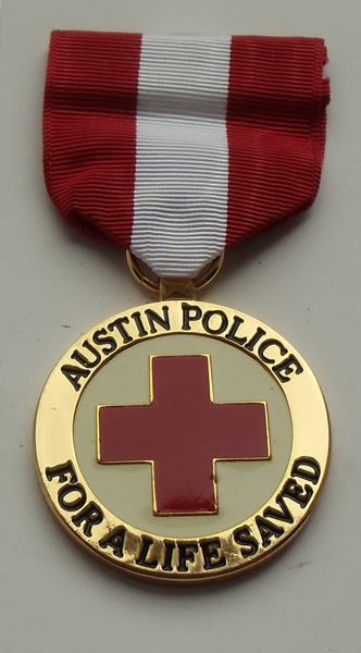 Медаль за спасение жизни. Полиция штата Остин