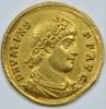 Золотой солид Валенса. Римская империя.