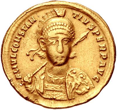 Константин II. Золотой солид. 337-361г.н.э.