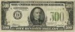 Банкнота 500 долларов США. 1934г