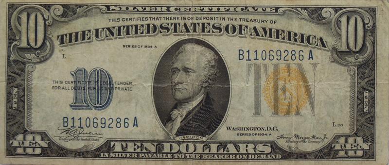Банкнота 10 долларов США. Северная Африка