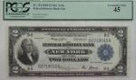 Банкнота 2 доллара с линкором