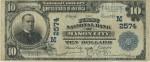 Банкнота 10 долларов 1902г. IA - Mason City