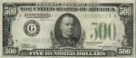 Банкнота 500 долларов.