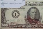 Банкнота 500 долларов. Состояние AU