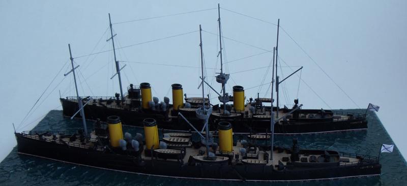 Русские бронепалубные крейсера 2-го ранга Жемчуг и Изумруд