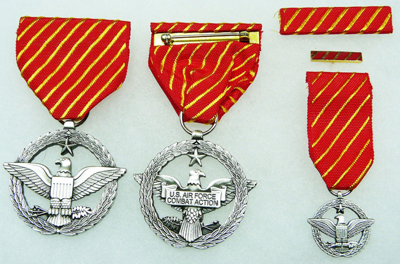 US Department of the Air Force Combat Action Medal, complete set of 4