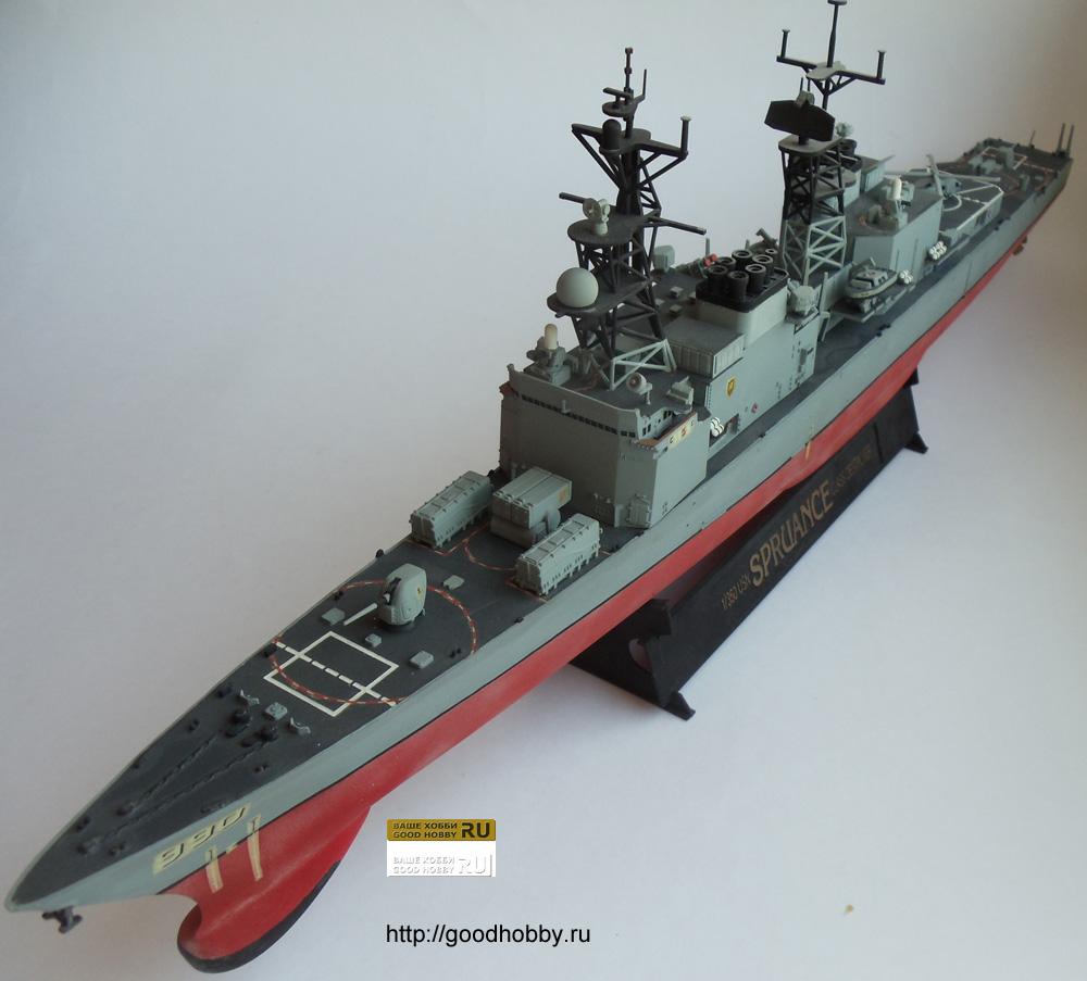 Американский эсминец УРО Спрюенс. Масштаб 1/350