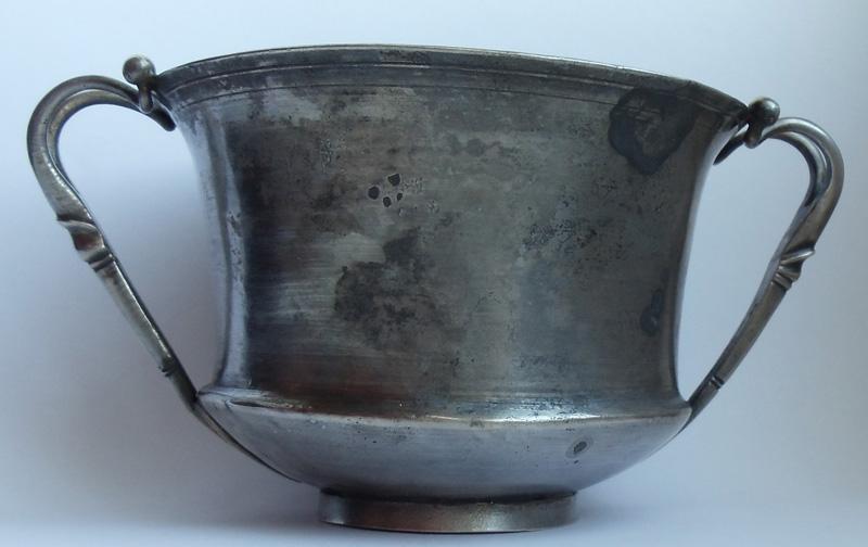 Серебряный римскмй канфар (чаша). 1 век н. э.