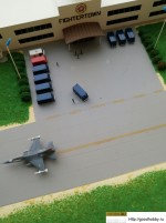 Макет авиабазы в масштабе 1/700