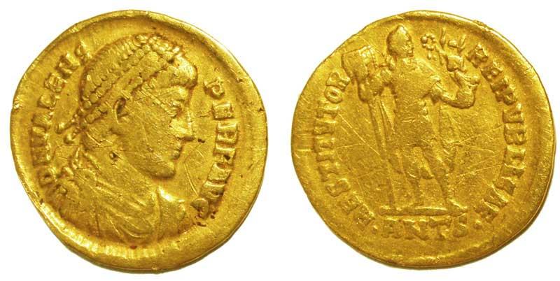 Солид императора Валенса, 364-378 гг.