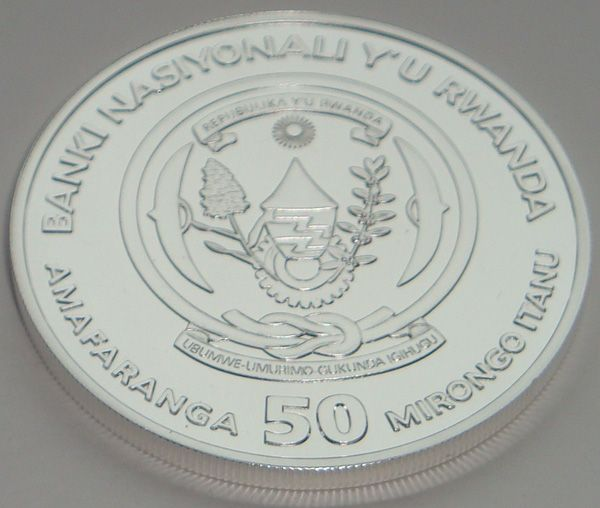 Руанда. 50 франков.2008г.