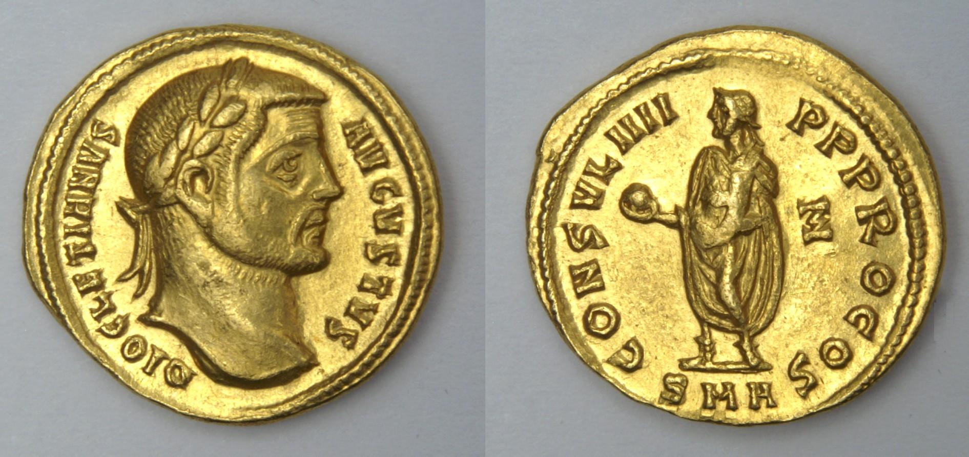 Римская империя. Диоклециан, 284-305 гг. Ауреус.