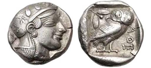 АФИНЫ. Аттика. Тетрадрахма. 1